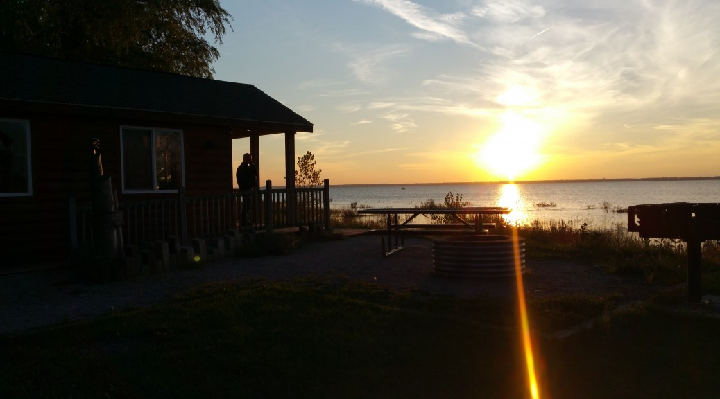 Sunset on Friday Night at the Cabin in Tawas